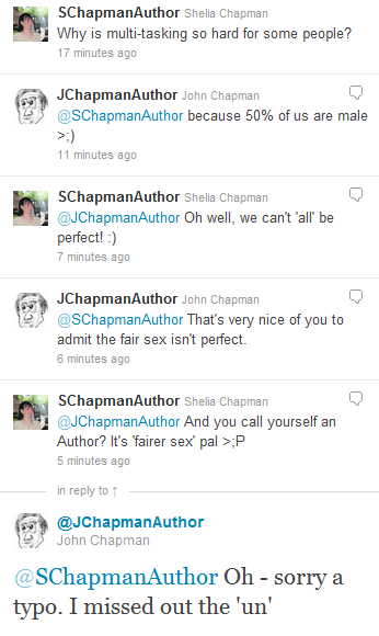 Twitter conversation between the authors